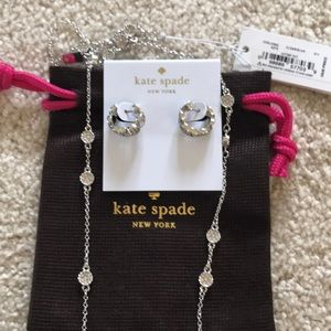 Kate Spade Gatsby dot earrings and necklace